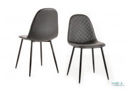 Chaises de salle a manger Ikaro anthracite